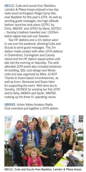 Essex JOTA 2014 in Radcom