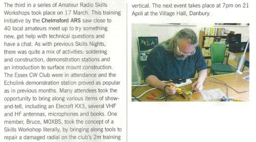 Danbury Skills Night April 2014 Details