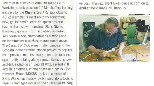 Danbury Skills Night April 2014 Details