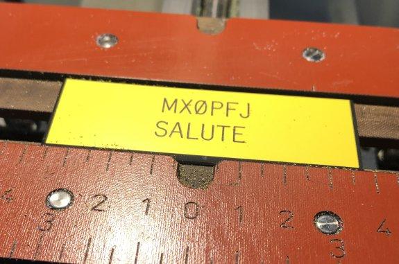 Salute to MX0PFJ