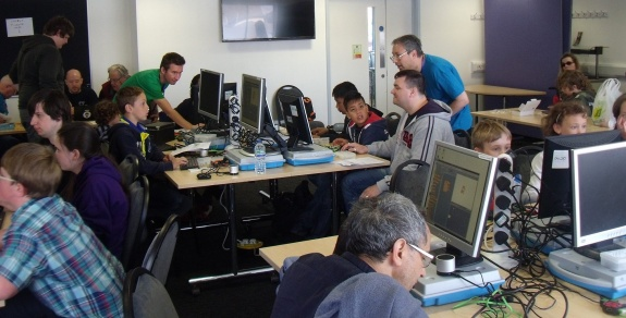 The hackathon at the Southend Raspberry Jam 2015