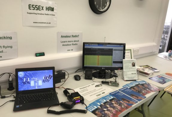 Essex Ham's Demo Table at the March 2018 Southend Raspberry Kam