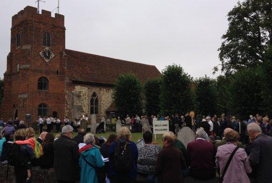 Start of the walk at St. Thomas Church
