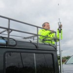Gareth 2E0PSN de-rigging the mast at checkpoint 4