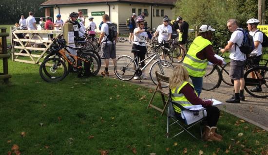 Farleigh Hospital 20km cycle ride checkpoint