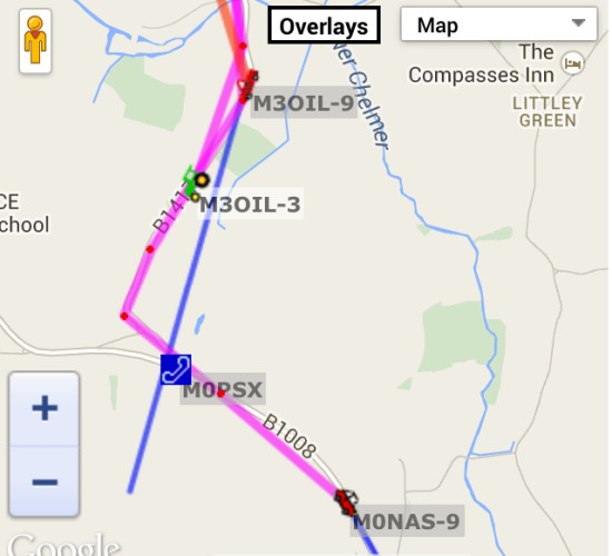 RAYNET APRS tracking of the 100km race