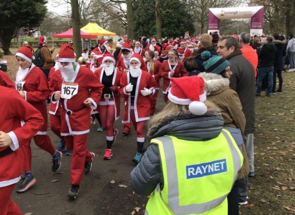 Start of the Santa Fun Run in December 2017