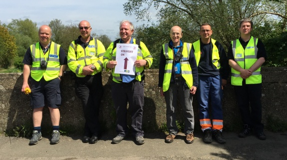 Essex RAYNET team at Checkpoint 2 - May 2015