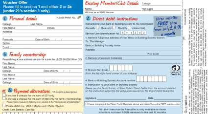 Sample of the RSGB Sign Up A Friend form