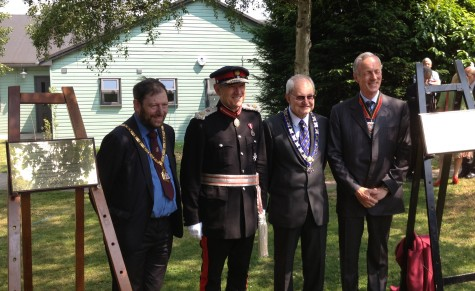 Dignitaries at the RSGB Centenary Day (Photo by Trevor M5AKA)