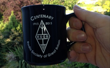 The collectable RSGB Centenary Mug