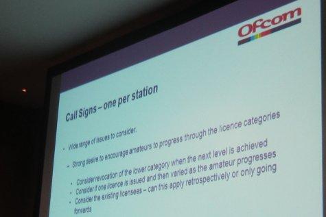 One Callsign Per Ham  - Ofcom Consultation Slides
