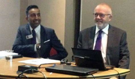Ofcom's Ash Gohil and Paul Jarvis G8RMM