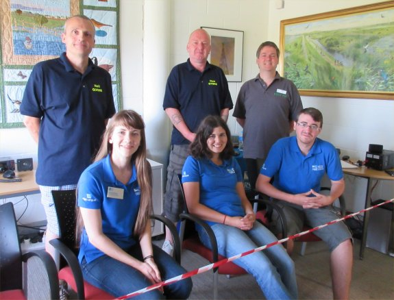 Some of the Thurrock Acorns team with some of the RSGB team