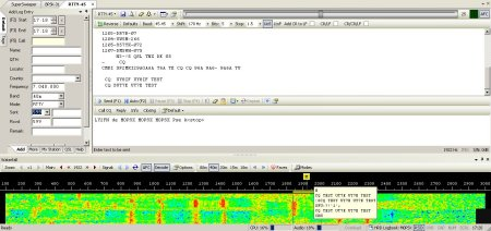 A RTTY QSO on Ham Radio DeluxeA RTTY QSO on Ham Radio Deluxe