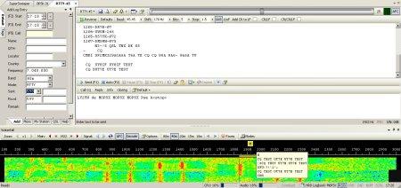 A RTTY QSO on Ham Radio DeluxeA RTTY QSO on Ham Radio Deluxe