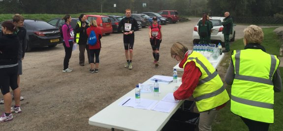 Participants arriving at Checkpoint 1 - Saltmarsh 75 2015