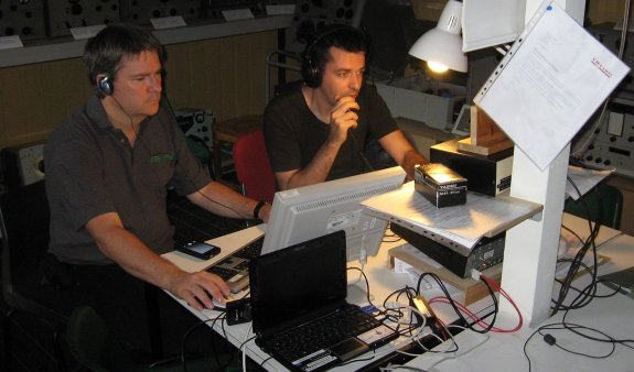 Charlie M0PZT operating with Pete M0PSX logging