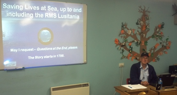 John G8DET - RMS Lusitania talk at Sandford Mill