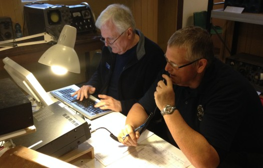 John G1UZD and James 2E1GUA working 40m for International Marconi Day