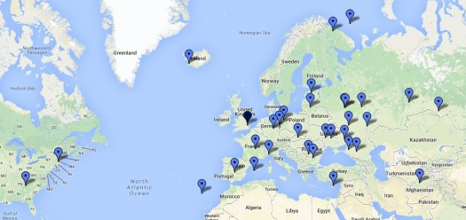 Data QSOs logged from Sandford Mill 12 Sept 2014