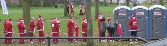The Sunday Santa Loo Queue