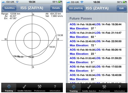 Satellite Tracker iPhone App
