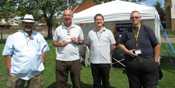 Mark M6RKC, Roland M0BDB, Pete M0PSX and James 2E1GUA, taking a day off from Essex RAYNET duties