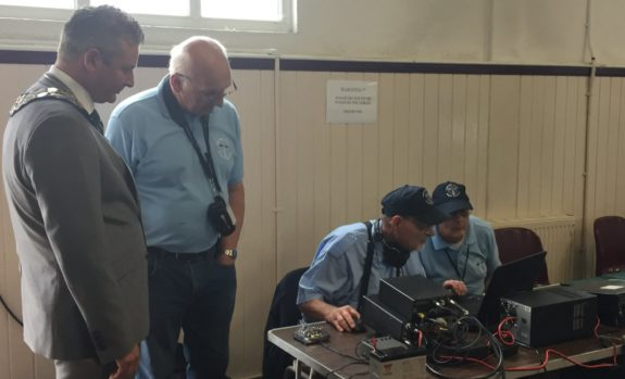 SEARS demonstrating Morse at the Canvey Community Archive, September 2016