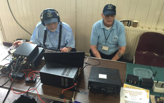Dave G4AJY and Brian G7IIO, on-air as GX4RSE from the Canvey Community Archive event