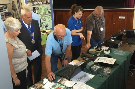 Explaining Amateur Radio at the Canvey Community Archives event in Sept 2016