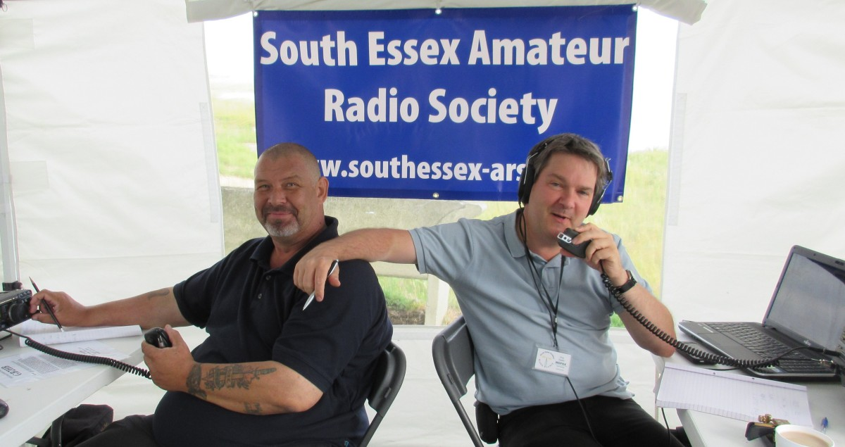 Mark M6RKC and Pete M0PSX, working the GB2HB callsign