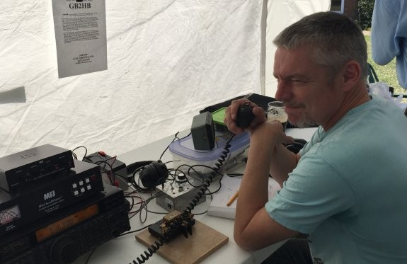 Paul M6NFW,operating his first special event callsign, GB2HB