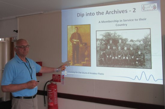 Dave G4UVJ - RSGB Wartime Archives talk at SEARS