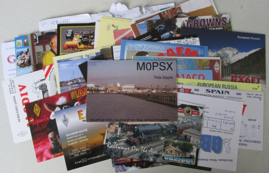 Some of the QSL cards for GB1HF