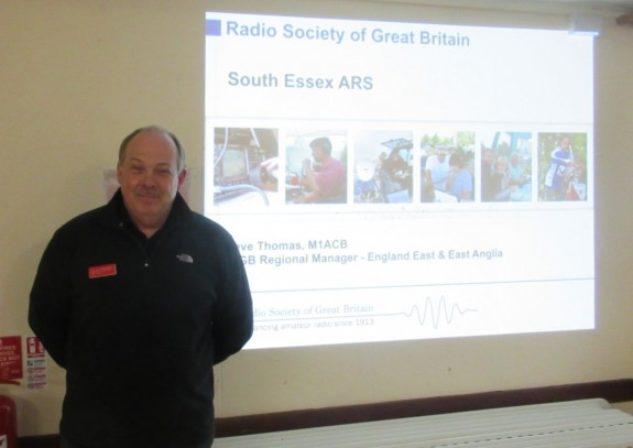 Steve M1ACB, updating the South Essex ARS members in March 2016