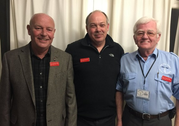RSGB local team Keith G3WRO, Steve M1ABC and Vic G6BHE at SEARS in March 2016