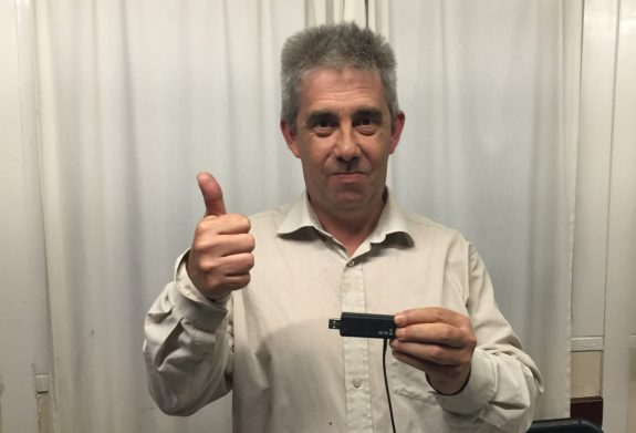 Paul 2E0DNQ with the Realtek dongle