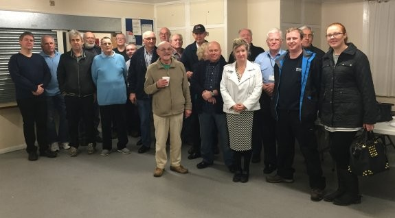Some of the members and visitors at the SEARS 2015 Xmas Social in Thundersley