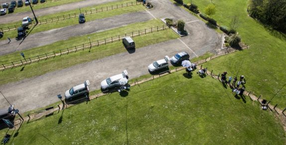 Aerial shot of the stations, courtesy of Dave M0TAZ