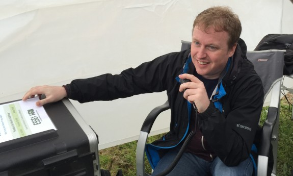 Dean, making his first QSO on 2m