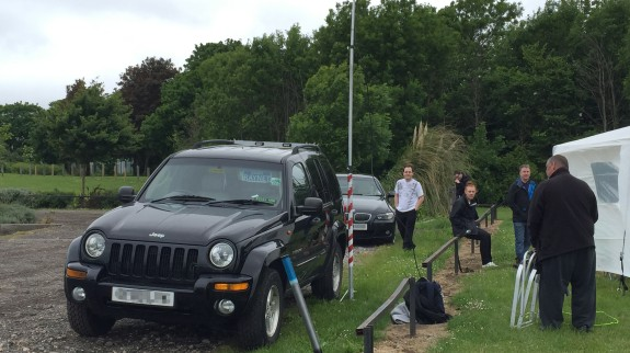 Thanks to Mark 2E0RMT for the Comms vehicle and the gazebo