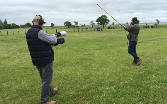 Nick from TX Factor, filming Steve M0SHQ's SO-50 contact