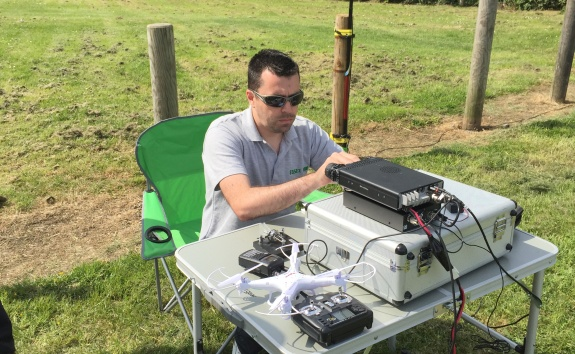 Charlie M0PZT at Shoebury Easy Beach 17 May 2015