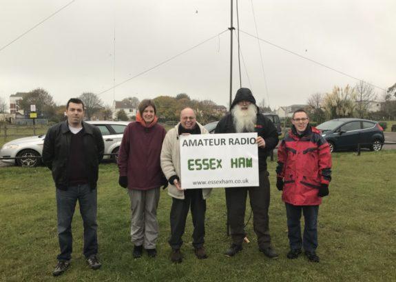 A damp, but happy, bunch of Essex Hams in Shoebury