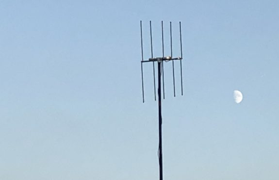 Geoff G0DDX's antenna - not quite up to moonbounce