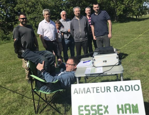 Shoebury Beach Field Day 19 May 2018, with Nick M0NFE re-polarised