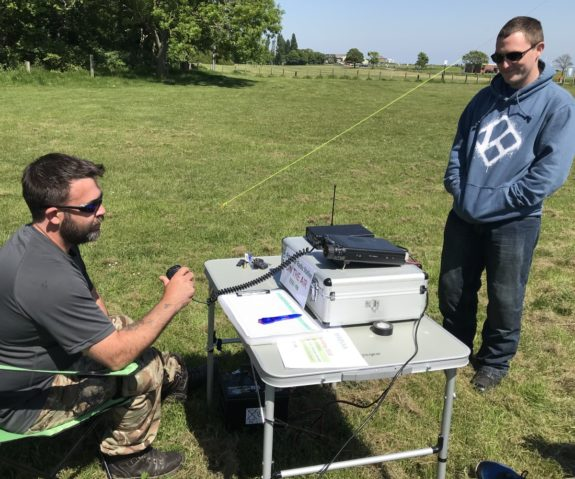 Carl completing a 2m training QSO ahead of his upcoming Foundation exam