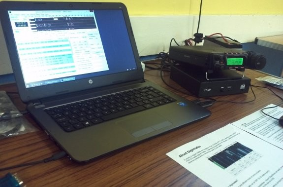 Charlie M0PZT's 20m data mode station in action