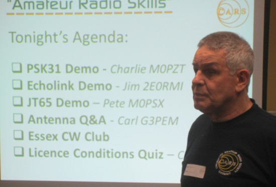 Clive Ward G1EUC at an early Skills Workshop